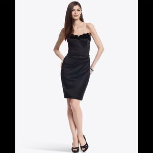 NWT WHBM Ruffled Sweetheart Dress Bombshell LBD 00